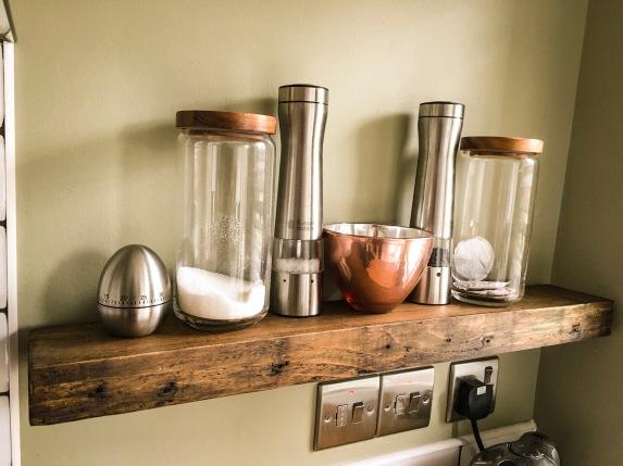 Kitchen Floating Shelves.
